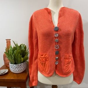 Vintage Funky Button Sweater